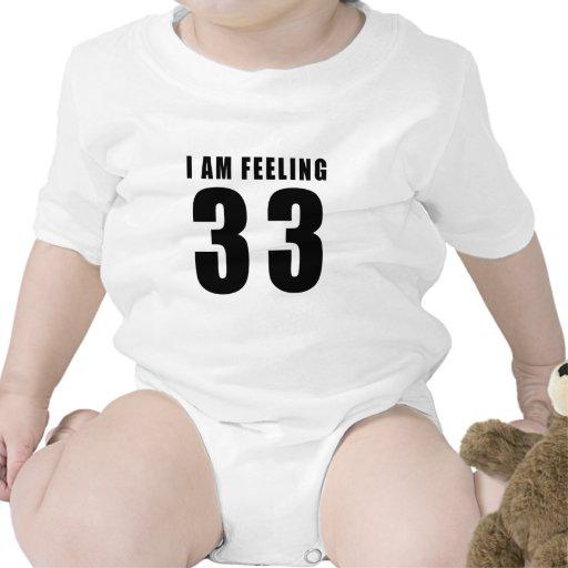 Estoy sintiendo 33 diseños del cumpleaños trajes de bebé