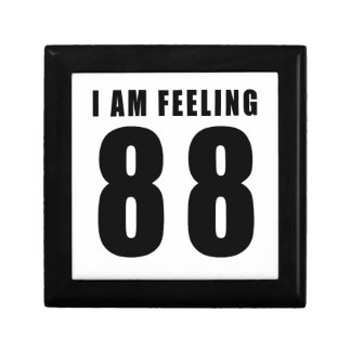 Estoy sintiendo 88 diseños del cumpleaños cajas de recuerdo