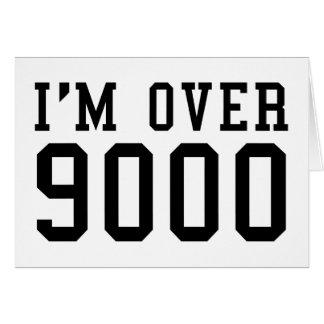 Estoy sobre 9000 felicitaciones