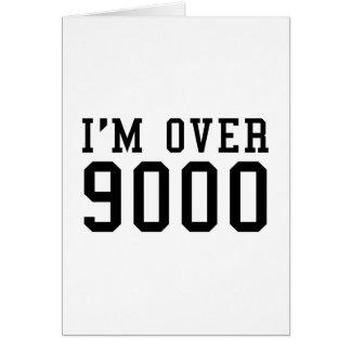 Estoy sobre 9000 tarjeta