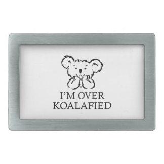 Estoy sobre Koalafied Hebilla De Cinturon Rectangular