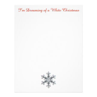 Estoy soñando con el navidad blanco - escama de la membrete a diseño