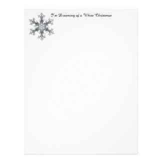 Estoy soñando con el navidad blanco - escama de la plantilla de membrete