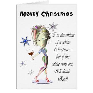Estoy soñando con el navidad blanco regalo divert tarjeton