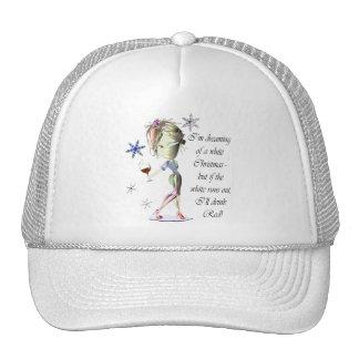 Estoy soñando con el navidad blanco, regalo gorra