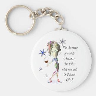 Estoy soñando con el navidad blanco, regalos chist llaveros personalizados