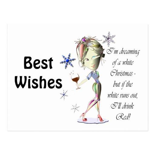Estoy soñando con el navidad blanco, regalos chist postales