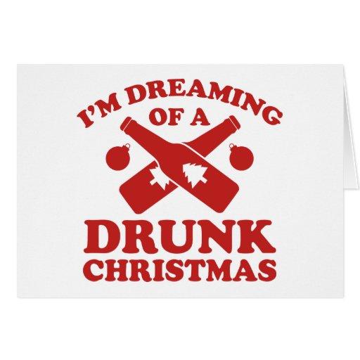 Estoy soñando con navidad bebido A Tarjeta