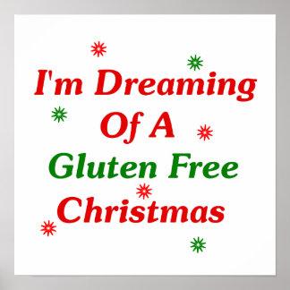 Estoy soñando con navidad de un gluten libremente póster