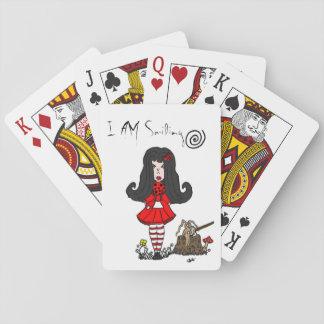 Estoy sonriendo - cubierta de tarjetas baraja de póquer
