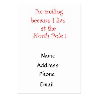 Estoy sonriendo porque… - las tarjetas de visita