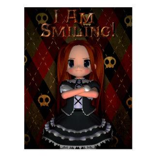 Estoy sonriendo postal