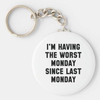 Estoy teniendo el lunes peor llavero redondo tipo pin