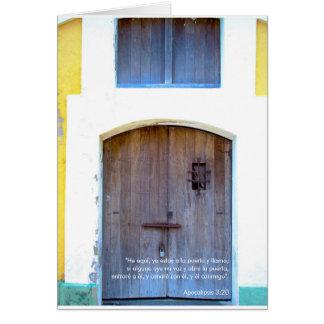 Estoy un la Puerta 1 - en Español de Tarjeta
