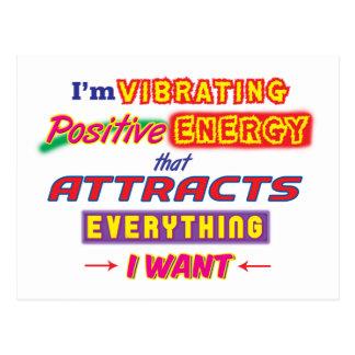 Estoy vibrando la postal positiva de la energía