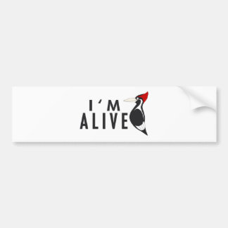Estoy vivo - pulsación de corriente cargada en cue pegatina de parachoque