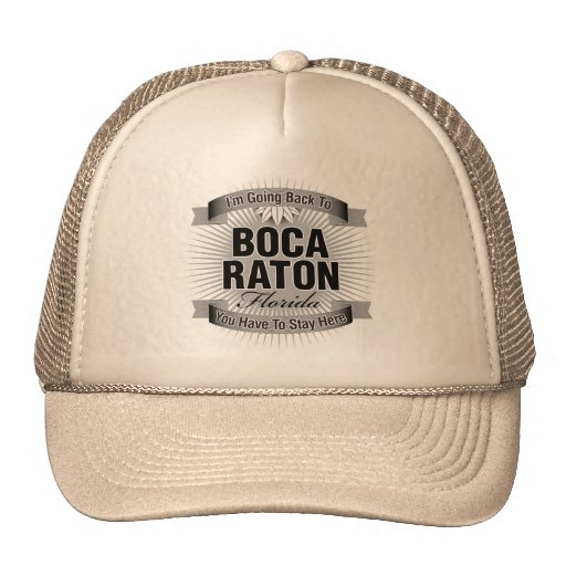 Estoy volviendo a (Boca Raton) Gorros Bordados