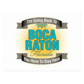 Estoy volviendo a Boca Raton Tarjetas Postales