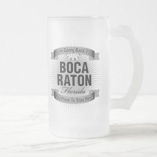 Estoy volviendo a (Boca Raton) Taza De Cristal