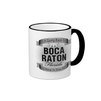 Estoy volviendo a (Boca Raton) Taza De Dos Colores
