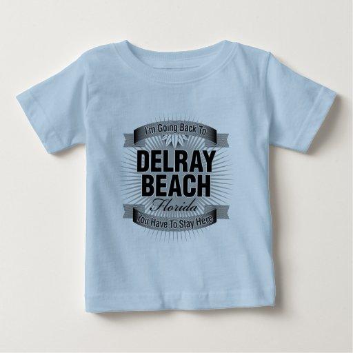 Estoy volviendo a (Delray Beach) Playera Para Bebé