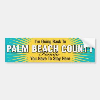 Estoy volviendo a (el condado de Palm Beach) Etiqueta De Parachoque