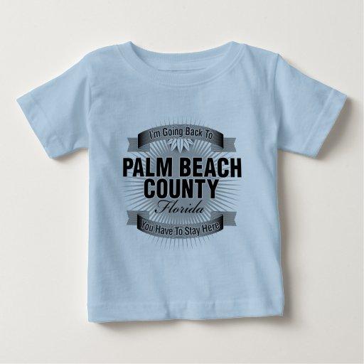 Estoy volviendo a (el condado de Palm Beach) Playera De Bebé