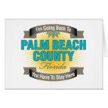Estoy volviendo a (el condado de Palm Beach) Tarjetas