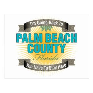 Estoy volviendo a (el condado de Palm Beach) Tarjetas Postales