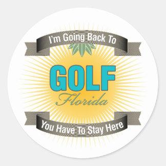 Estoy volviendo a (el golf) pegatinas redondas