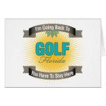 Estoy volviendo a (el golf) tarjeta