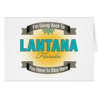 Estoy volviendo a (el Lantana) Tarjetón