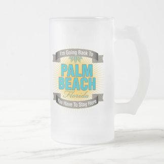 Estoy volviendo a (el Palm Beach) Jarra De Cerveza Esmerilada
