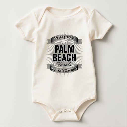 Estoy volviendo a (el Palm Beach) Mameluco De Bebé