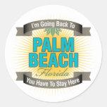 Estoy volviendo a (el Palm Beach) Etiquetas Redondas