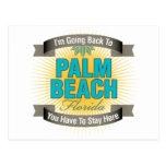 Estoy volviendo a (el Palm Beach) Postal