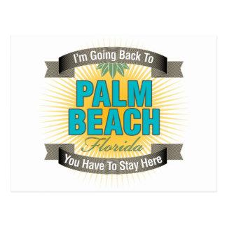Estoy volviendo a (el Palm Beach) Tarjetas Postales