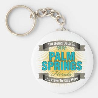 Estoy volviendo a (el Palm Springs) Llavero Redondo Tipo Pin