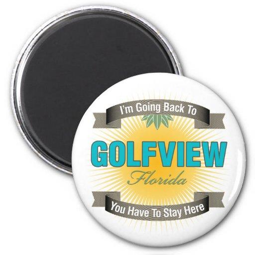 Estoy volviendo a (Golfview) Imán Redondo 5 Cm