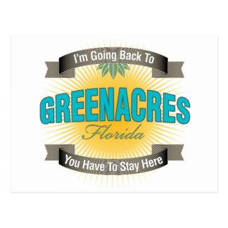 Estoy volviendo a (Greenacres) Postal
