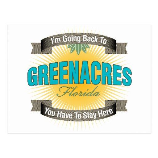 Estoy volviendo a (Greenacres) Tarjetas Postales