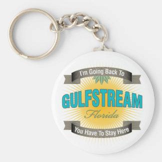 Estoy volviendo a (Gulfstream) Llavero Redondo Tipo Pin