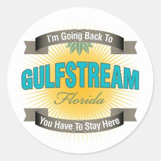 Estoy volviendo a (Gulfstream) Pegatinas Redondas