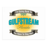 Estoy volviendo a (Gulfstream) Postal