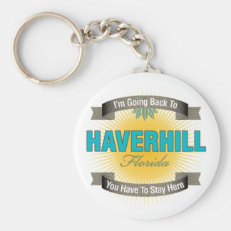 Estoy volviendo a (Haverhill) Llavero Redondo Tipo Pin