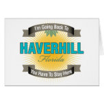 Estoy volviendo a (Haverhill) Tarjeta
