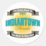 Estoy volviendo a (Indiantown) Etiqueta Redonda