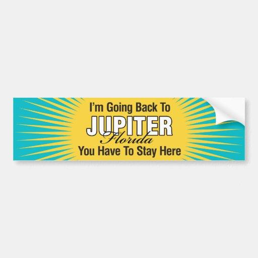 Estoy volviendo a (Júpiter) Pegatina De Parachoque