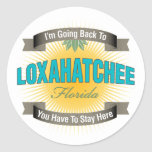 Estoy volviendo a (Loxahatchee) Etiquetas Redondas