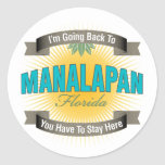 Estoy volviendo a (Manalapan) Etiquetas Redondas